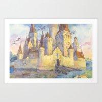 castle Art Prints featuring Castle by Kasheva