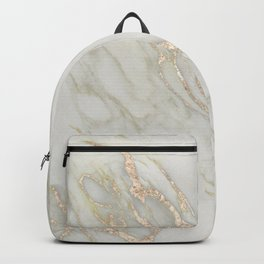 Marble Love Bronze Metallic Backpack