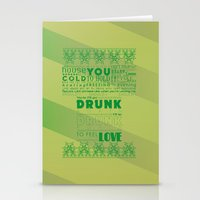 drunk Stationery Cards featuring DRUNK by Insait Disseny