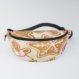 Gingerbread Cookies & Candy Canes Fanny Pack