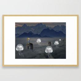 Jelly Fish Valley Framed Art Print