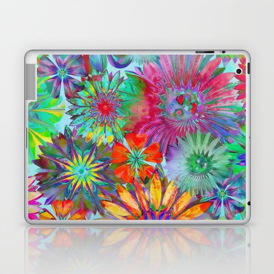 Rivalry of Flowers - multicolor Laptop & iPad Skin
