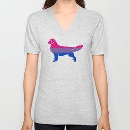 Bi Pride Dog Unisex V-Neck