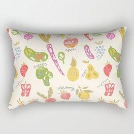 Veggies and Fruits Rectangular Pillow