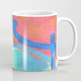Colorful Sun Abstract Digital Painting Coffee Mug