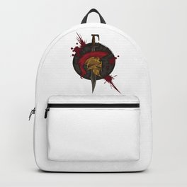 Heroic Spartan Emblem | Warrior Fighter Backpack