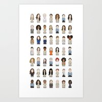 oitnb Art Prints featuring OITNB by Big Purple Glasses