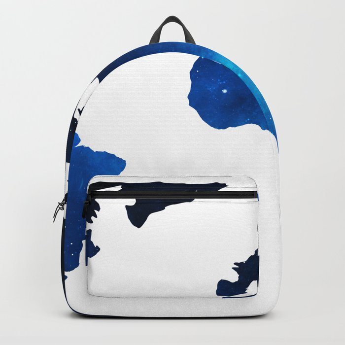 World Map Space Planet Blue Backpack
