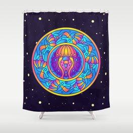 Jellyfish Mandala Shower Curtain