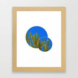minimalist cactus print, succulent print, geometric wall art, abstract wall hangings, minimalist decor, calming wall art, minimalist gift Framed Art Print