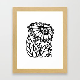 Black flower III Framed Art Print