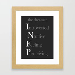 INFP Personality Type Dreamer Framed Art Print