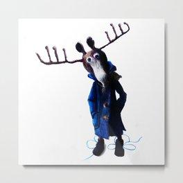 funny moose Metal Print