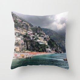 Positano Italy Throw Pillow