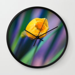 Itsy Bitsy Daffodil Bloom Wall Clock