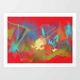 Red celebrations Art Print