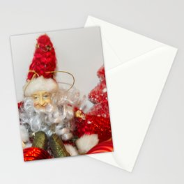 Christmas New year Red Postcard  Elf Stationery Cards