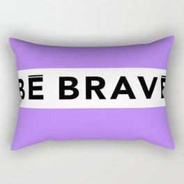 BE BRAVE Summer COLLECTION Purple Rectangular Pillow