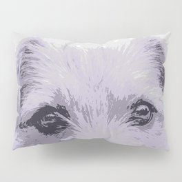 Curious little dog waiting for you - funny dog portrait Pillow Sham