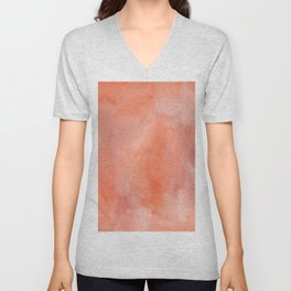 Abstract hand painted terracotta watercolor Unisex V-Neck