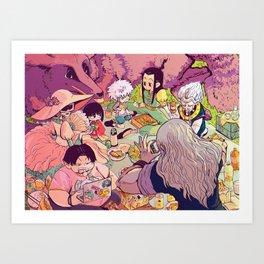A happy family circle Art Print
