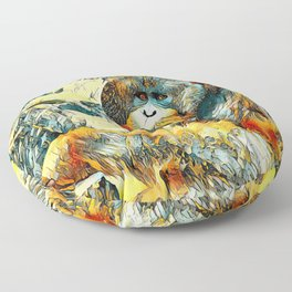 AnimalArt_OrangUtan_20170601_by_JAMColorsSpecial Floor Pillow