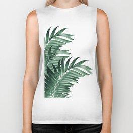 Palm Leaves Tropical Green Vibes #3 #tropical #decor #art #society6 Biker Tank
