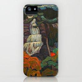 J.E.H. Macdonald Algoma Waterfall, 1920, McMichael Canadian Art Collection iPhone Case
