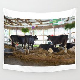 Black and white cow 2 Wall Tapestry