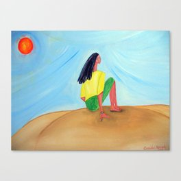The Sun Worshipper Canvas Print