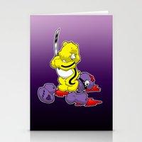 kill bill Stationery Cards featuring Kill Bill Bear by Andrew Mark Hunter
