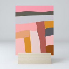 Modern Abstract in Earthy Colors Mini Art Print