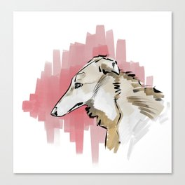 The borzoi Canvas Print