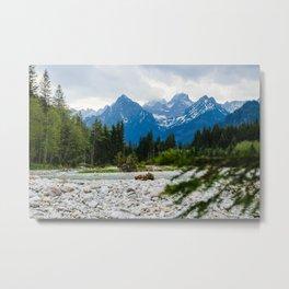 Beautiful landscape with mountains. Tatra mountains art print. Metal Print