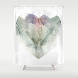 Valentine's Day Vagina Print Shower Curtain