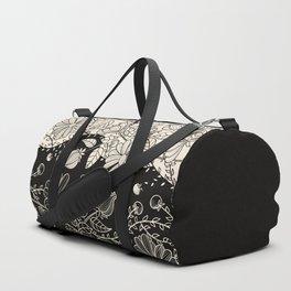 FLOWERS EBONY AND IVORY Duffle Bag