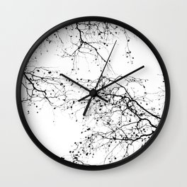 BLACK BRANCHES 2 Wall Clock