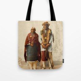 Native American Couple Tote Bag