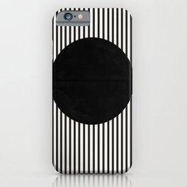 Stripes and Circle, Bauhaus Style  iPhone Case