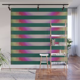 Teal Stripes Wall Mural