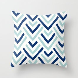 Barbados blue Throw Pillow