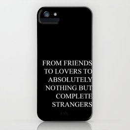 From friends to lovers iPhone Case