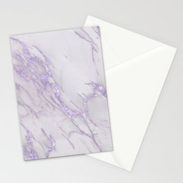 Ultra Violet Marble Stationery Cards