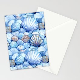 Sea Shells Aqua Stationery Cards