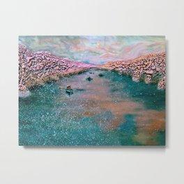 cherry blossom sojourn (detail)_katallie Metal Print