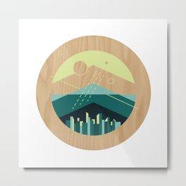 Wooded Trackless Grasslands Metal Print