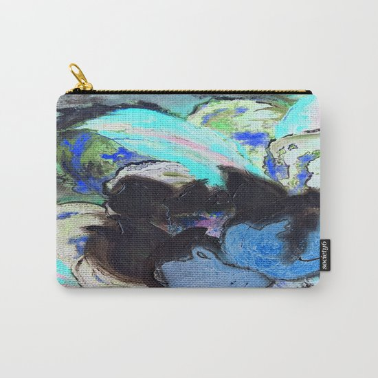 Purple Peonies in Shadow World Carry-All Pouch