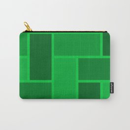 Green Brick Wall Carry-All Pouch