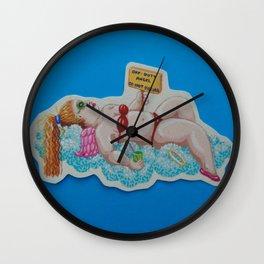 Off-Duty Angel Wall Clock