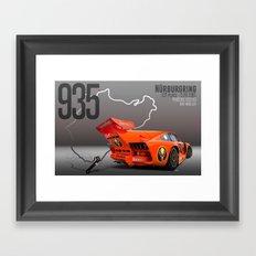 Porsche 935 K3 Jagermeister  Framed Art Print